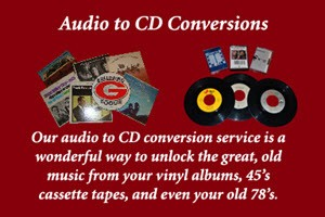 Audio to CD Conversions by Peach State Digital