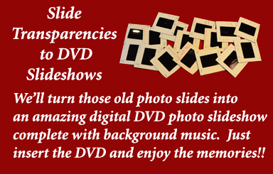 Slide Transparencies to DVD Conversions by Peach State Digital